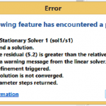 COMSOL-Failed-to-find-a-solution