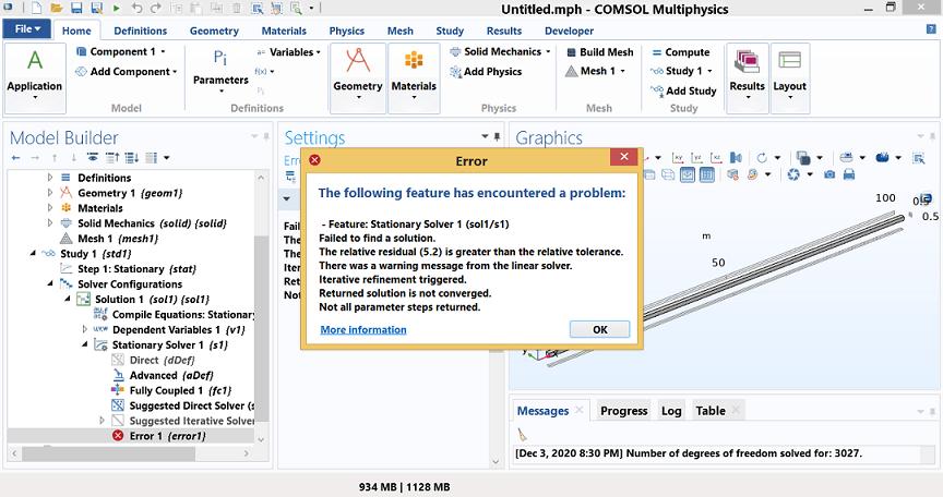 حل مشکل همگرایی و واگرایی و همگرا نشدن در کامسول not convergence comsol
